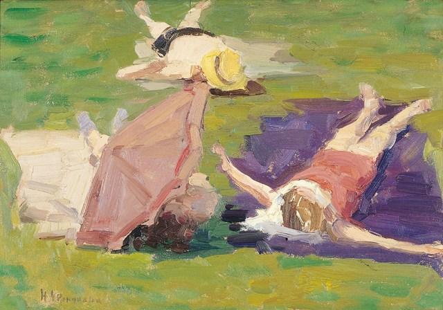 Nadezhda Eliseevna Chernikova, 'Sunbath', 1960, Surikov Foundation