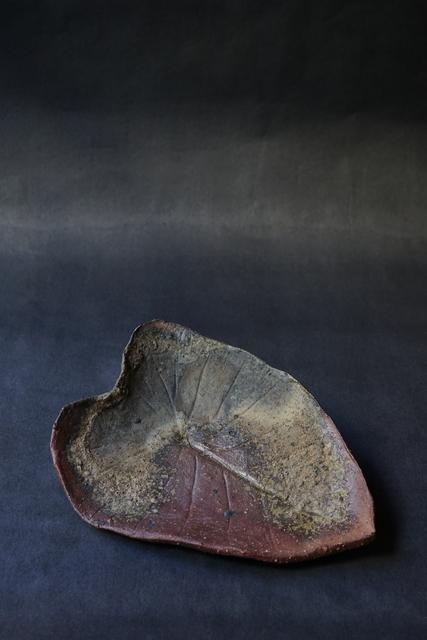 Shiro Tsujimura, 'Leaf Plate (Bizen-Style)', Kami ya Co., Ltd.