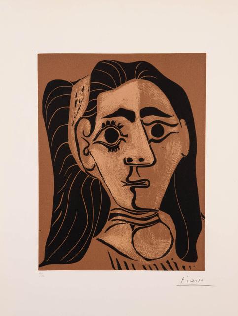 , 'Femme aux cheveux flous [Jacqueline au bandeau II],' 1962, Marlborough Gallery