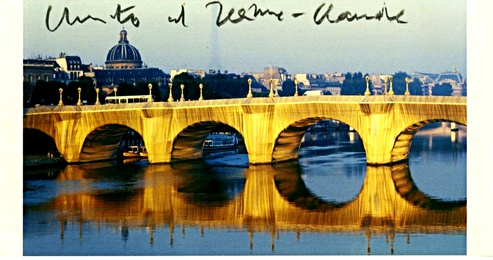 The Pont Neuf Wrapped IV (Hand Signed) Rare vintage card from the Estate of UACC President Cordelia Platt