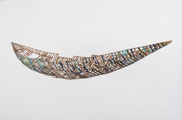 Raine Bedsole, ' Lachesis   ', 2018, Sculpture, Bronze, copper, antique book covers, Callan Contemporary