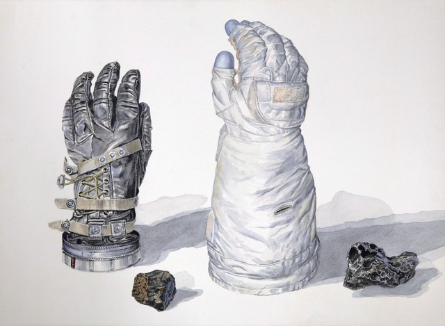 , 'Two Spacesuit Gloves with Meteorites,' 2018, Front Room Gallery