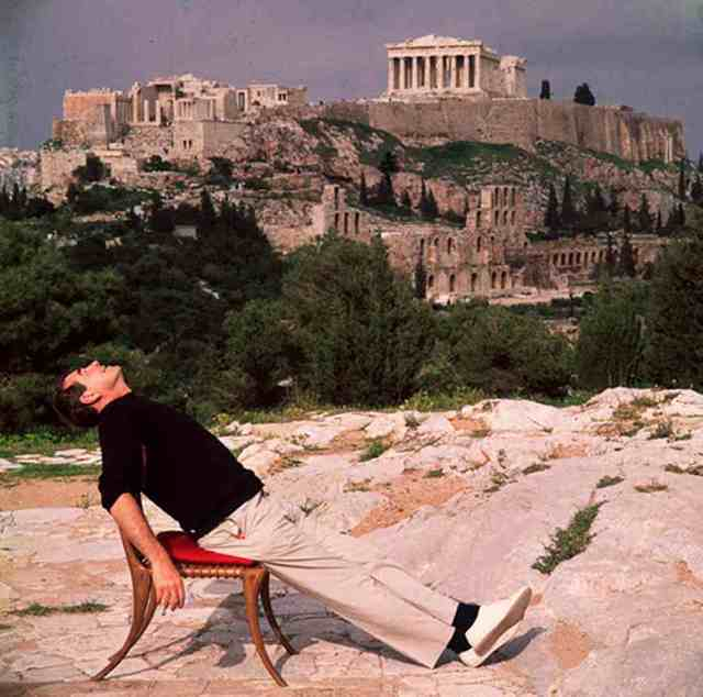 Slim Aarons, 'Self Portrait on Holiday in Athens, Greece', 1955, IFAC Arts