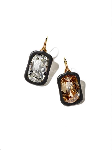 , '2020 Black Label Masterpiece VIII Ebony Diamond Earrings,' 2020, CINDY CHAO The Art Jewel