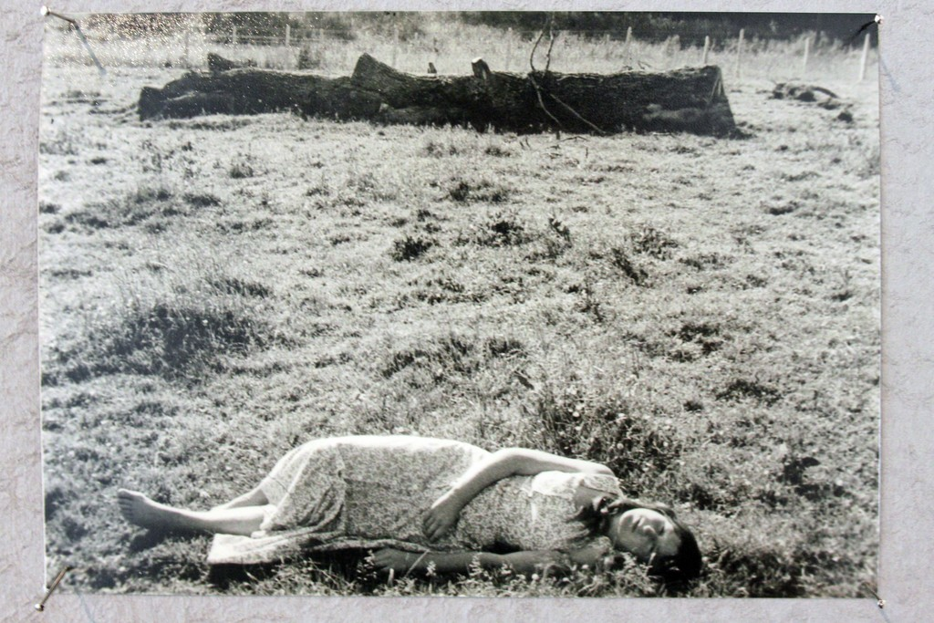 'Photo of Sleeping Like a Log' performance by Annabel Nicolson, 1974