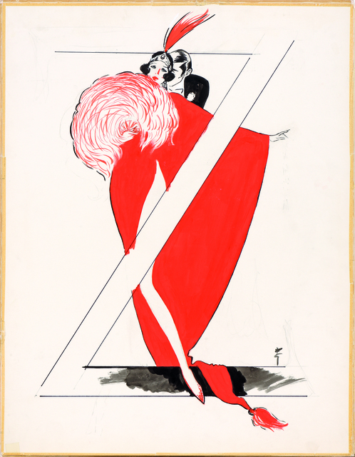 René Gruau, 'Ziegfield Follies', 1988, Drawing, Collage or other Work on Paper, Indian ink and gouache on paper, Alexis Pentcheff
