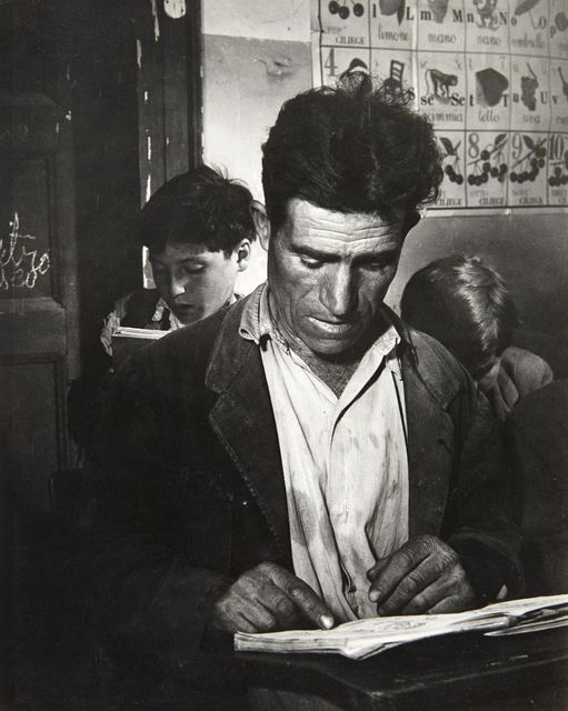 "David ""CHIM"" Seymour, 'Battle Against Illiteracy, Rogiano Gravenia, Italy', circa 1950, Doyle"