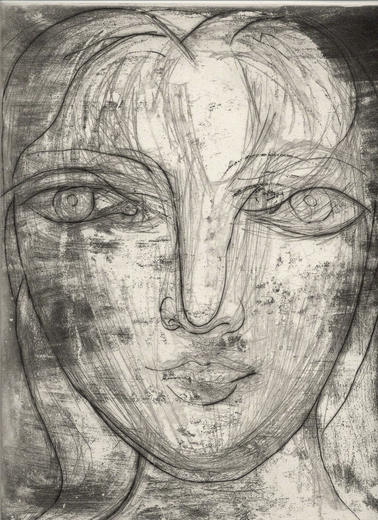 Pablo Picasso   Portrait de Marie-Thérèse de Face (1934)   Artsy