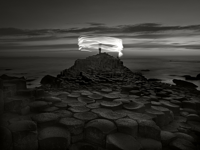 , 'Nightscapes - Giant's Causeway and Figure,' 2018, Burning Giraffe Art Gallery