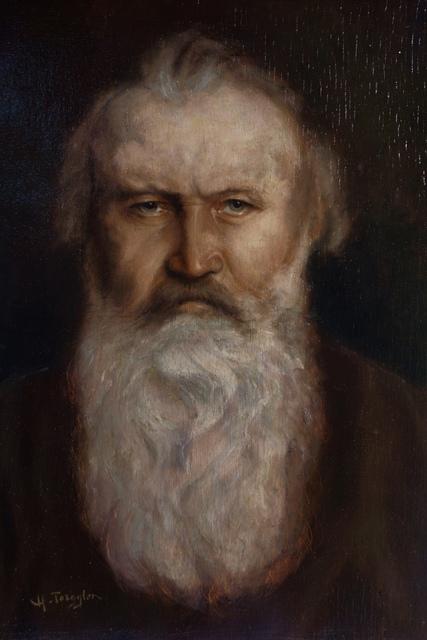 , 'Portrait of Johannes Brahms.,' ca. 1904, Martin du Louvre