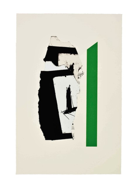Robert Motherwell, 'In White with Green Stripe', 1987, michael lisi / contemporary art