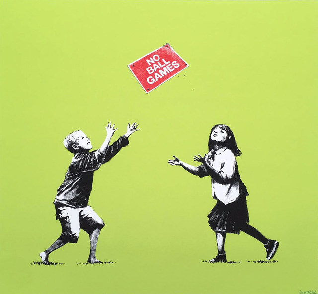 , 'No Ball Games (Green),' 2009, Gormleys Fine Art