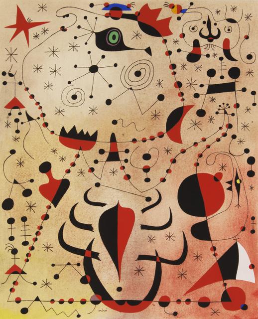 , 'Le crepuscule rose caresse les femmes et les oiseaux (The Rose Dusk Caresses the Sex of the Women and the Birds), Plate XXI,' 1959, Merritt Gallery