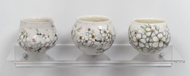 , 'Blossom Yunomi I, II & III,' 2016, Jane Hartsook Gallery
