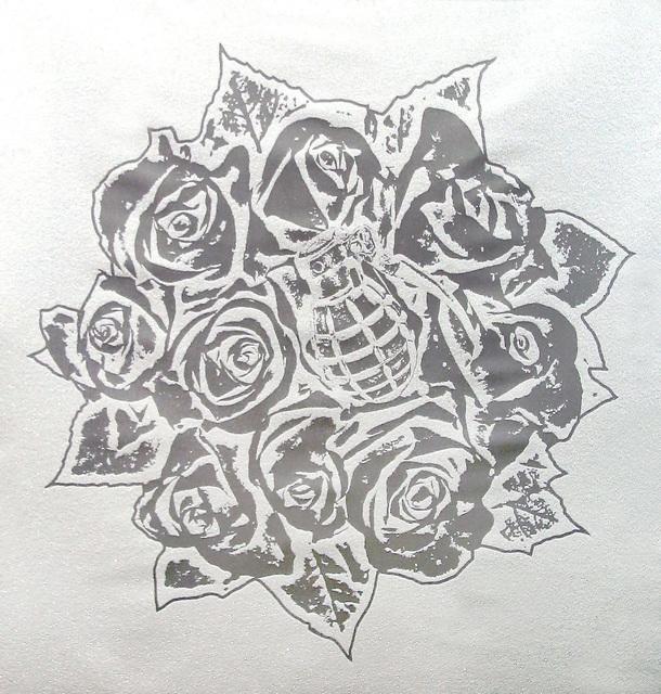 Rubem Robierb, 'Rose Bouquet (Silver on White)', 2016, Taglialatella Galleries