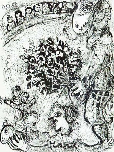 Marc Chagall, 'Le Cirque M. 502', 1967, Print, Original lithograph printed on Velin d'Arches wove paper, Galerie d'Orsay