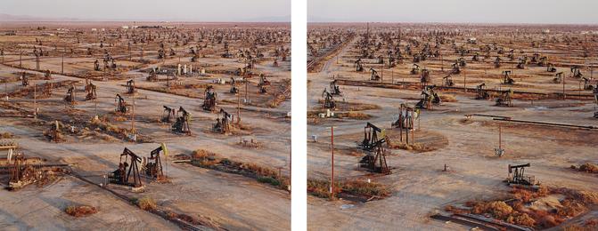 Edward Burtynsky, 'Oil Fields #19a & #19b, Belridge, California,' 2003, Phillips: Photographs