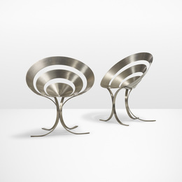 Maria Pergay, 'Important pair of Ring chairs,' 1968, Wright: Design Masterworks