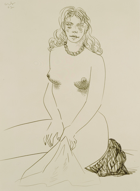 , 'Nude with Towel,' 2007, Galerie Andrea Caratsch