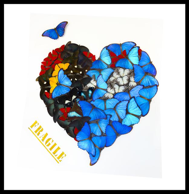SN, 'Butterfly Fragile Heart White', 2019, Eden Fine Art