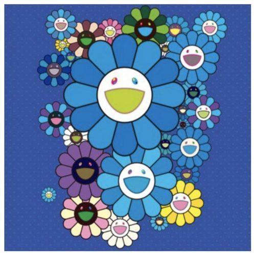Takashi Murakami, 'FLOWERS BLUE VELVET', 2016, Marcel Katz Art