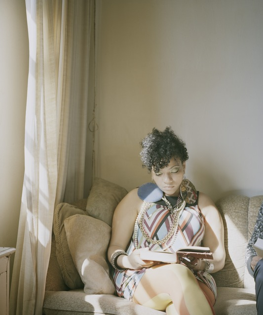 , 'Abigail reading Angela Davis (An Autobiography, 1974) From the series Reading Women,' 2012-2014, moniquemeloche