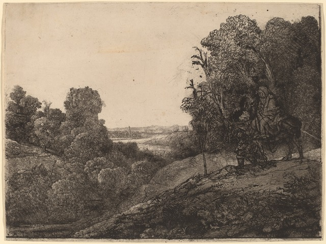 Rembrandt van Rijn, 'The Flight into Egypt: Altered from Seghers', ca. 1653, National Gallery of Art, Washington, D.C.