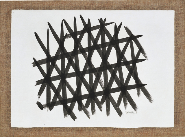 Piero Dorazio, 'Reticolo', 1964, Drawing, Collage or other Work on Paper, Tempera on paper laid on burlap, Phillips