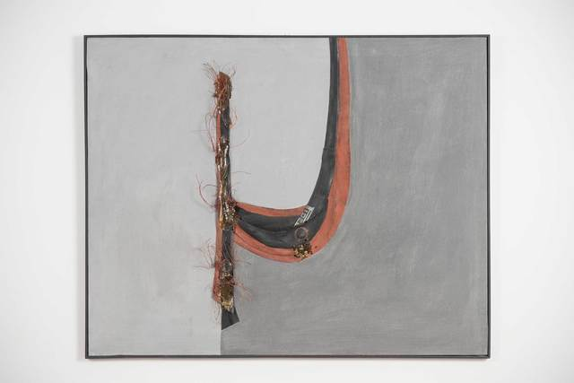 """, '""""La guerra e astratta"""" collage,' 1970, Casati Gallery"""