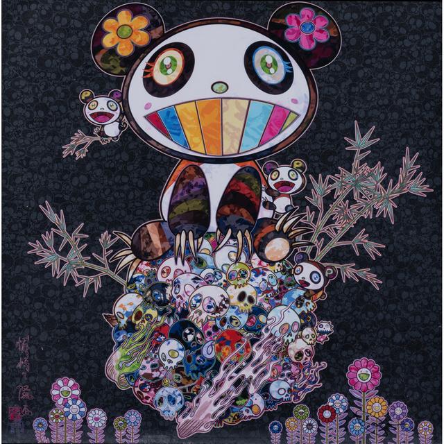 Takashi Murakami, 'Panda and Panda Cubs', 2015, Print, Screen print in colors, all margins, full page, PIASA