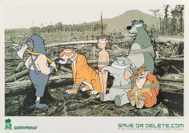 Save or Delete- Greenpeace Print