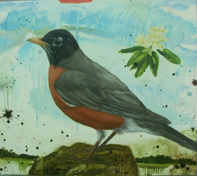 Eleanor Miller, 'Robin with Blossom', 2012, Clark Gallery