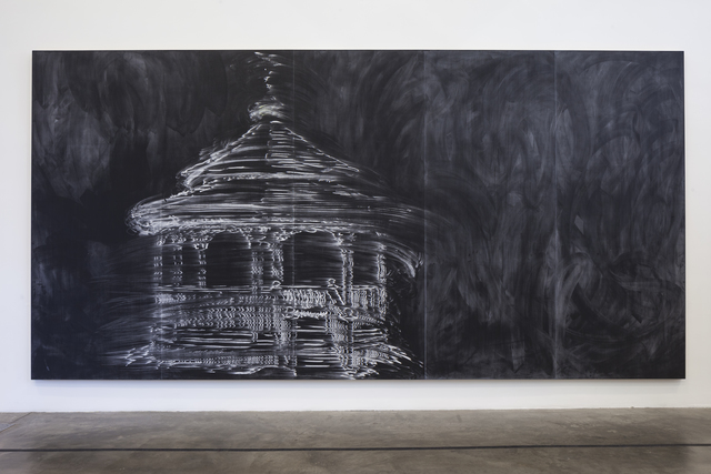 Gary Simmons, 'Gazebo', 1997, Drawing, Collage or other Work on Paper, Paint and chalk on panel, Museum of Contemporary Art San Diego