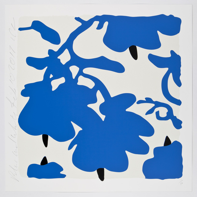 , 'Blue and White,  Feb 10, 2017,' 2017, William Campbell Contemporary Art, Inc.