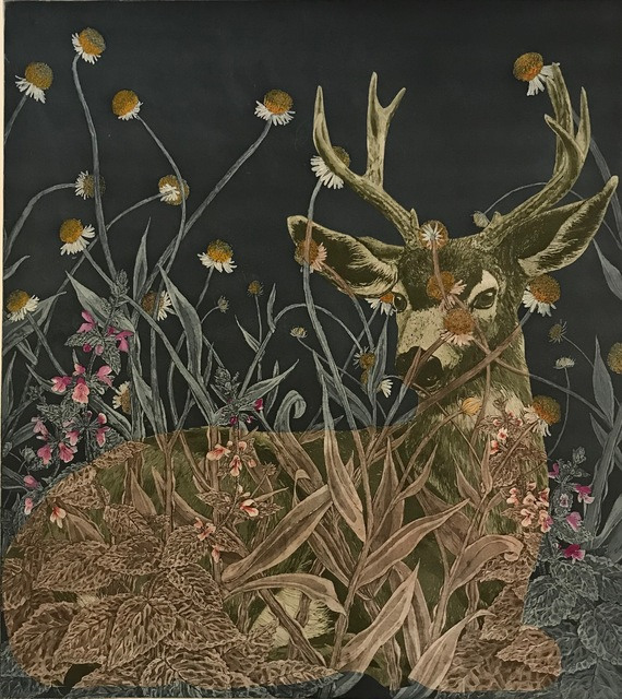 , 'Black-Tailed Deer in Sneezewood and Hedge Nettle,' 2018, MiXX projects + atelier