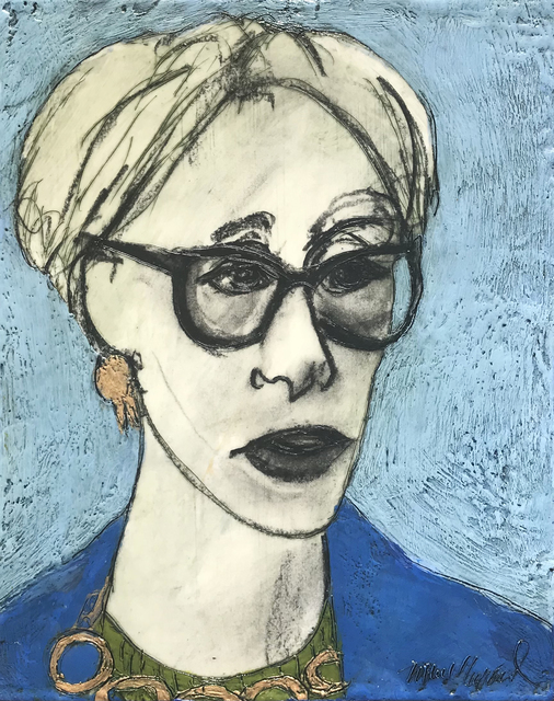 Marcie Wolf-Hubbard, 'Wendy Sherman', 2021, Painting, Encaustic and charcoal on panel, Zenith Gallery
