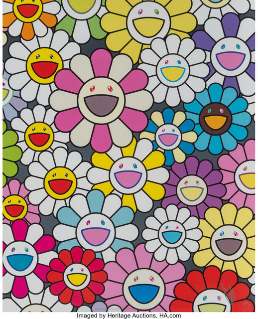 Takashi Murakami, 'A little Flower Painting: Pink, Purple, and Many Other Colors', 2017, Heritage Auctions