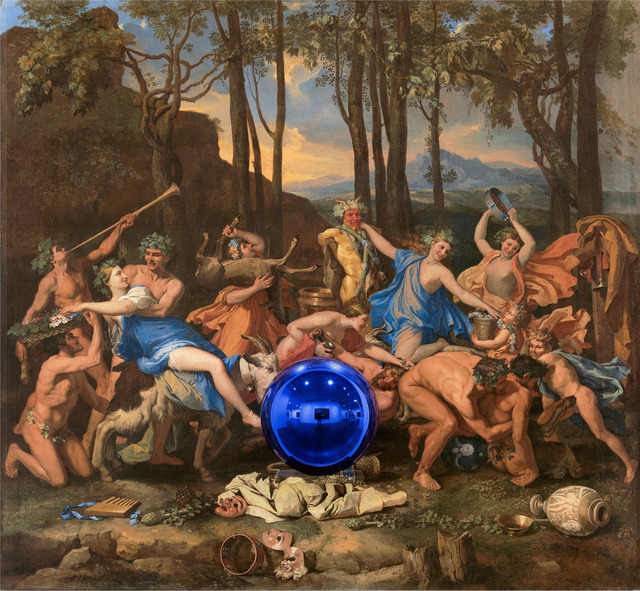 , 'Gazing Ball (Poussin The Triumph of Pan),' 2015-2016, Gagosian