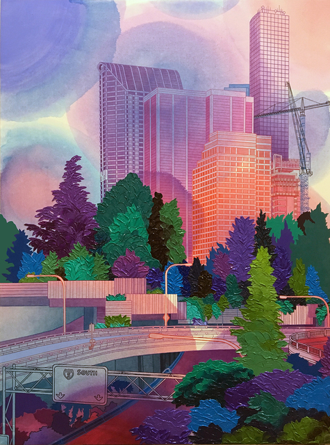 , 'Downtown Viewpoint,' 2018, Linda Hodges Gallery
