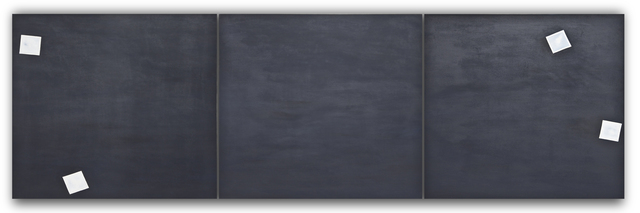 , 'Untitled (Black Photo Cloud Triptych),' 1969, Barbara Mathes Gallery