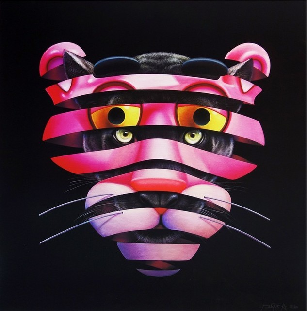 Super A, 'PINK PANTHER TRAPPED', 2020, Print, Fine Art Print on 315gsm paper, Dope! Gallery