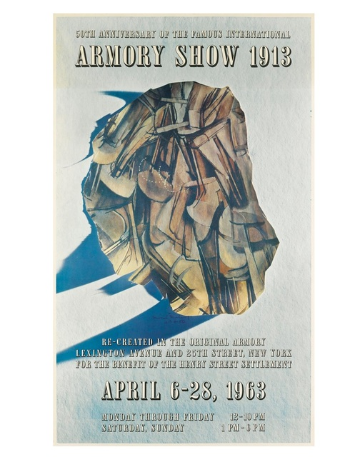"""Marcel Duchamp, '""""50th Anniversary of the Famous International Armory Show 1913"""", Exhibition Poster Designed by Marcel Duchamp', 1963, VINCE fine arts/ephemera"""
