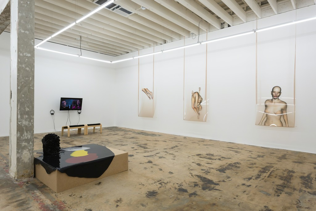 Installation view, from left: Martha Friedman, Megan Daalder, and Ivana Basic.