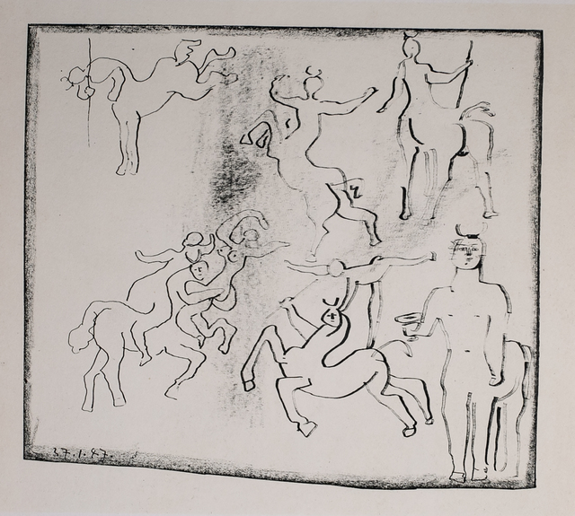Pablo Picasso, 'Centaures Jouant (Centaurs Playing), 1949 Limited edition Lithogrph by Pablo Picasso', 1949, White Cross
