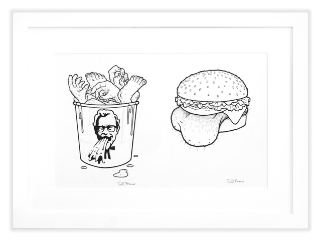 Todd Francis, 'EAT SHIT AND DIE TRUJILLO CHICKEN/MIORANA DOGBALLS', Subliminal Projects