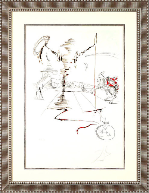 ", '""Don Quixote on an Infinite Landscape""    Hand Signed Salvador Dali Lithograph,' 1941-1957, Elena Bulatova Fine Art"