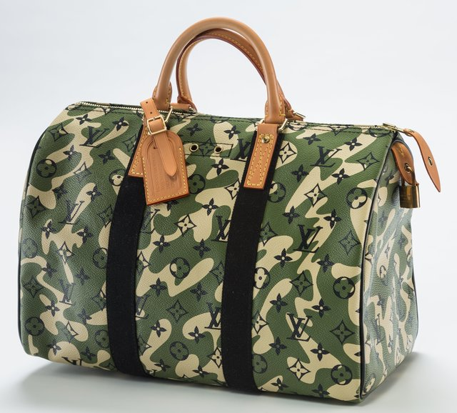 Takashi Murakami, 'Louis Vuitton Limited Edition Green Monogramouflage Canvas Speedy 35 Bag', 2008, Heritage Auctions