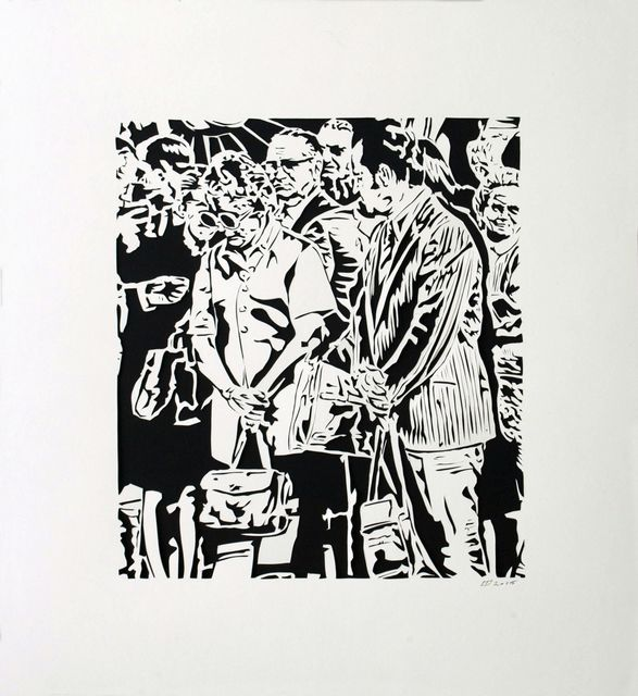 , 'Crowd 1, 1971,' 2015, Marion Gallery