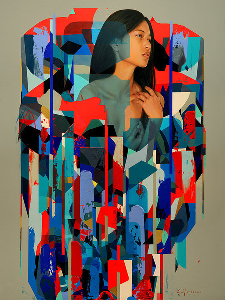"Erik Jones, '""Shields""', 2014, Hashimoto Contemporary"