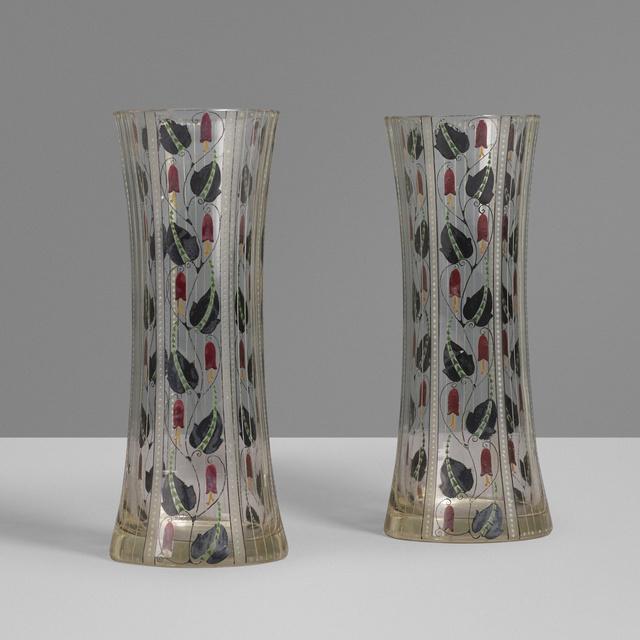 Wiener Werkstätte, 'Vases, pair', c. 1910, Wright